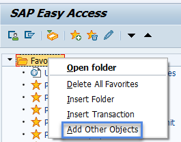 Screenshot of add other objects selection.