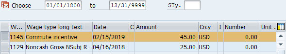 Screenshot of additional payment records.