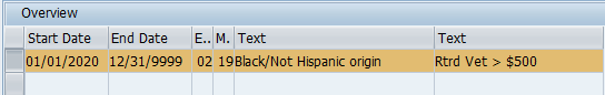 Record with Text Black/Not Hispainc origin selected