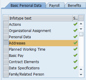 Screenshot of Basic Personal Data tab.
